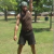 That's me preparing for a commercial involving kettlebells.